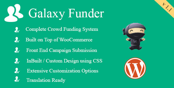 CodeCanyon Galaxy Funder WooCommerce Crowdfunding System 7360954
