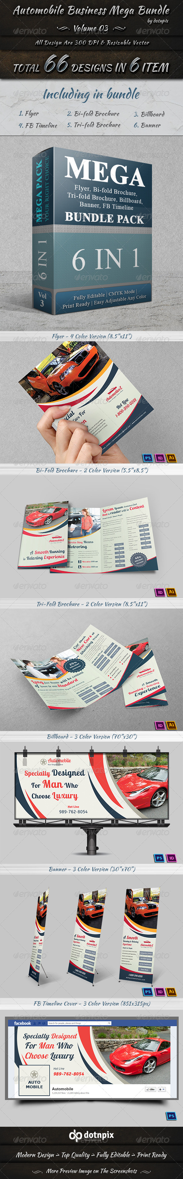 GraphicRiver Automobile Business Mega Bundle Volume 3 7410076