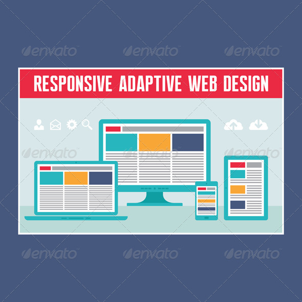 GraphicRiver Responsive Adaptive Web Design 7410100