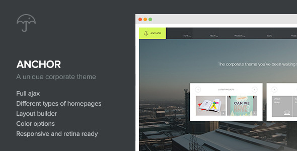 ThemeForest Anchor Creative-Agency WordPress Theme 7198326