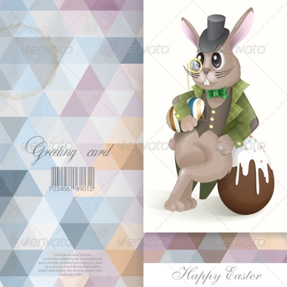 GraphicRiver Easter Bunny with Chocolate Egg 7410285