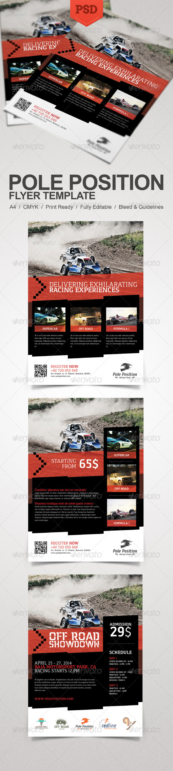 GraphicRiver Racing School Flyer 7410341