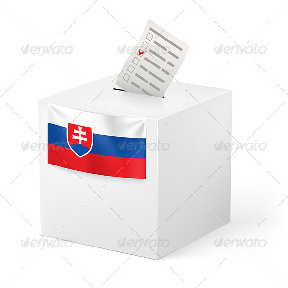 GraphicRiver Ballot Box with Voting Paper Slovakia 7410365