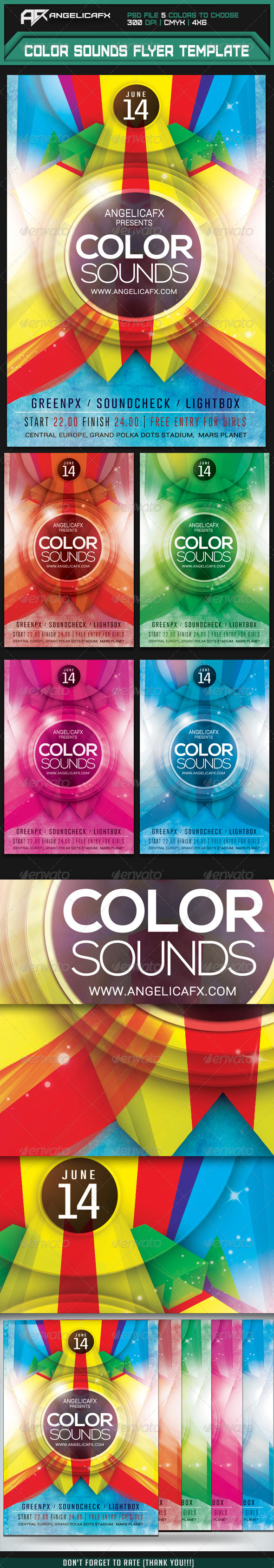 GraphicRiver Color Sounds Flyer Template 7335407