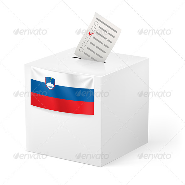 GraphicRiver Ballot Box with Voting Paper Slovenia 7410384