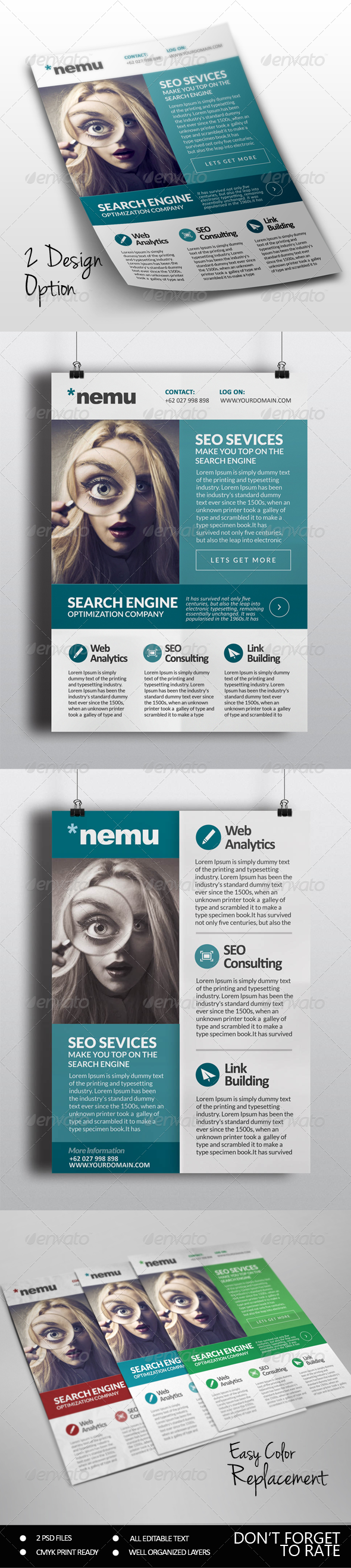 GraphicRiver SEO Marketing Flyer 7410392