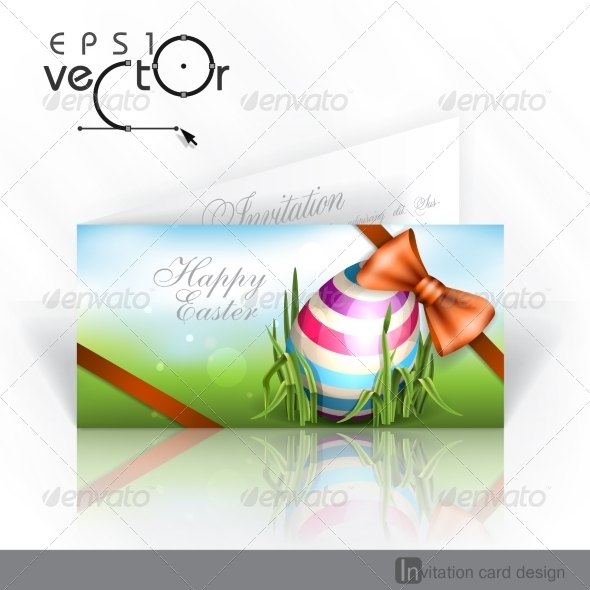 GraphicRiver Easter Background with Eggs in Grass 7410580