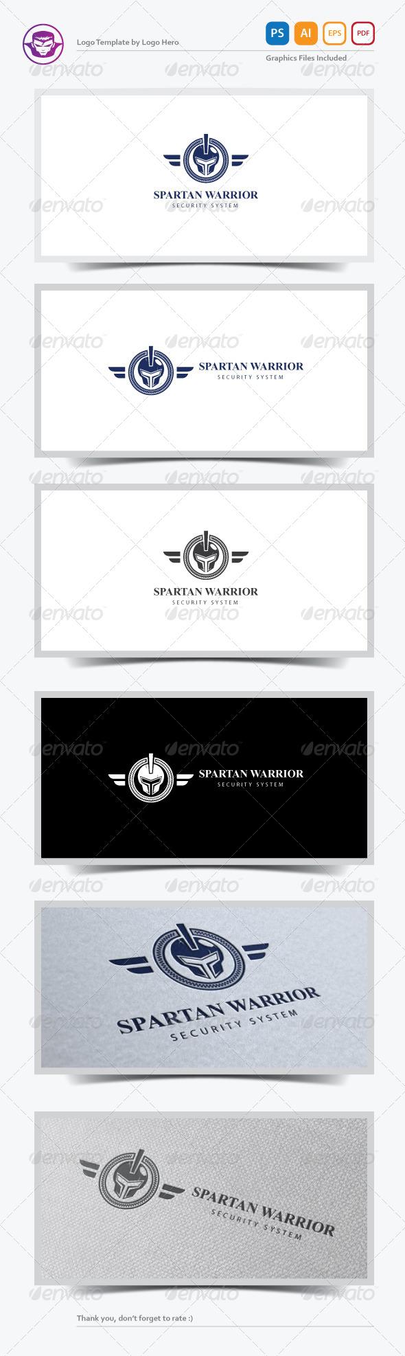 GraphicRiver Spartan Warrior Logo Template 7410643