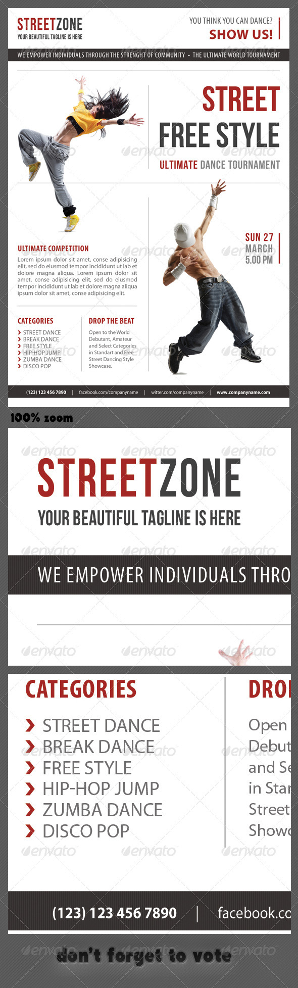 GraphicRiver Street Dance Multipurpose Flyer 04 7410952