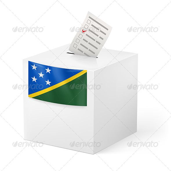 GraphicRiver Ballot Box with Voting Paper Solomon Islands 7410953