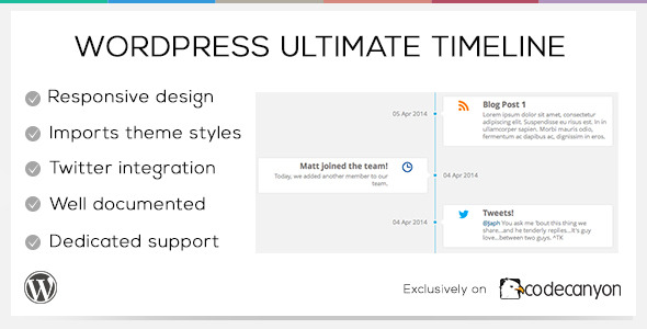 CodeCanyon WordPress Ultimate Timeline 7411135