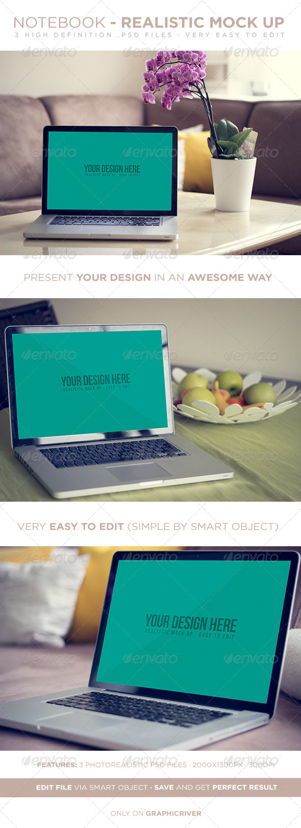 GraphicRiver Laptop Realistic Mock Up 7393057
