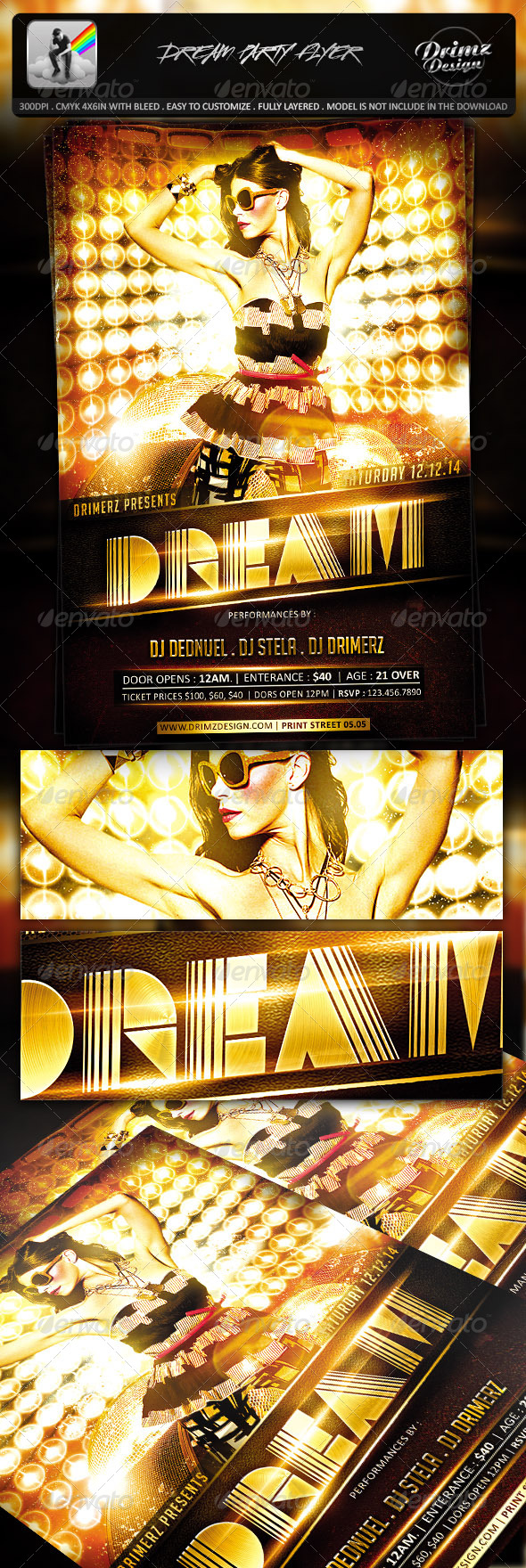 GraphicRiver Dream Party Flyer 7411284