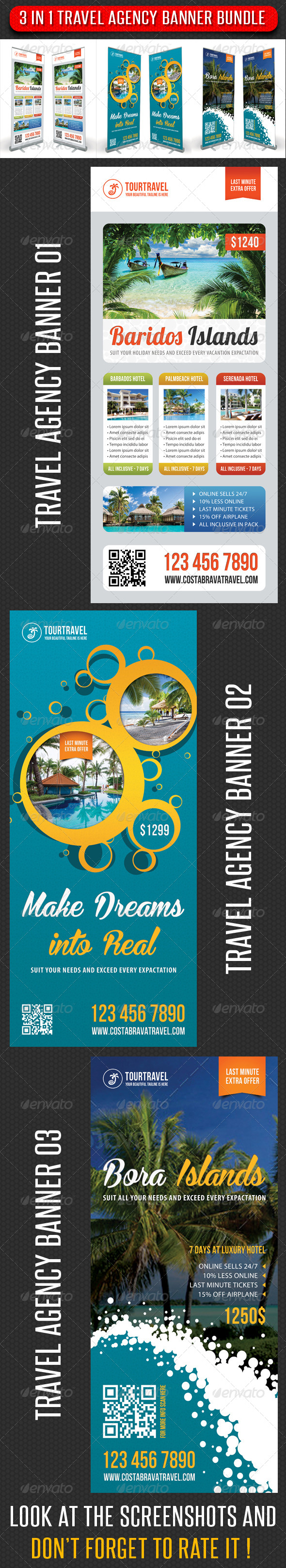 GraphicRiver 3 in 1 Travel Agency Banner Bundle 03 7411410