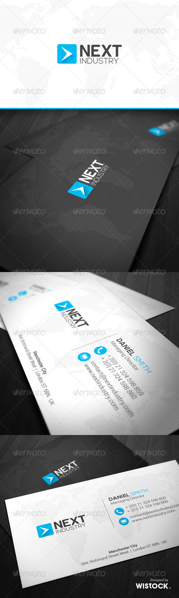 GraphicRiver Next Industry Business Card 7411700