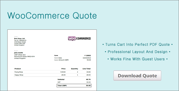 CodeCanyon WooCommerce Quote 7411885