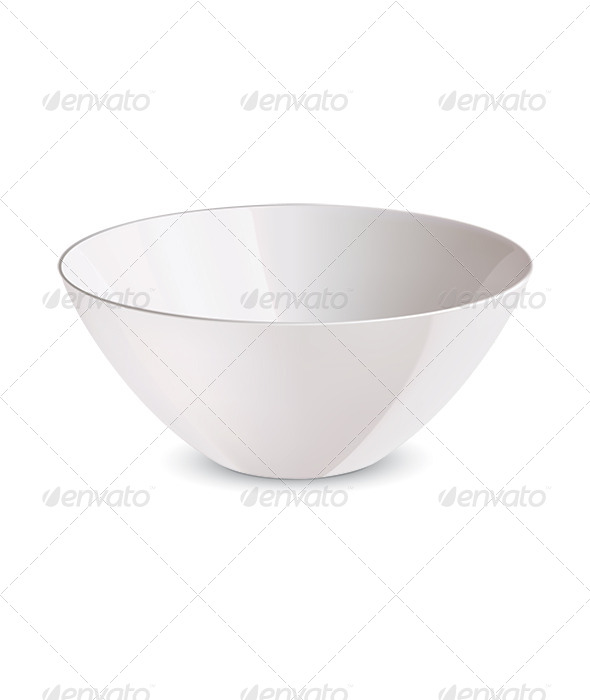 GraphicRiver Bowl isolated 7412134