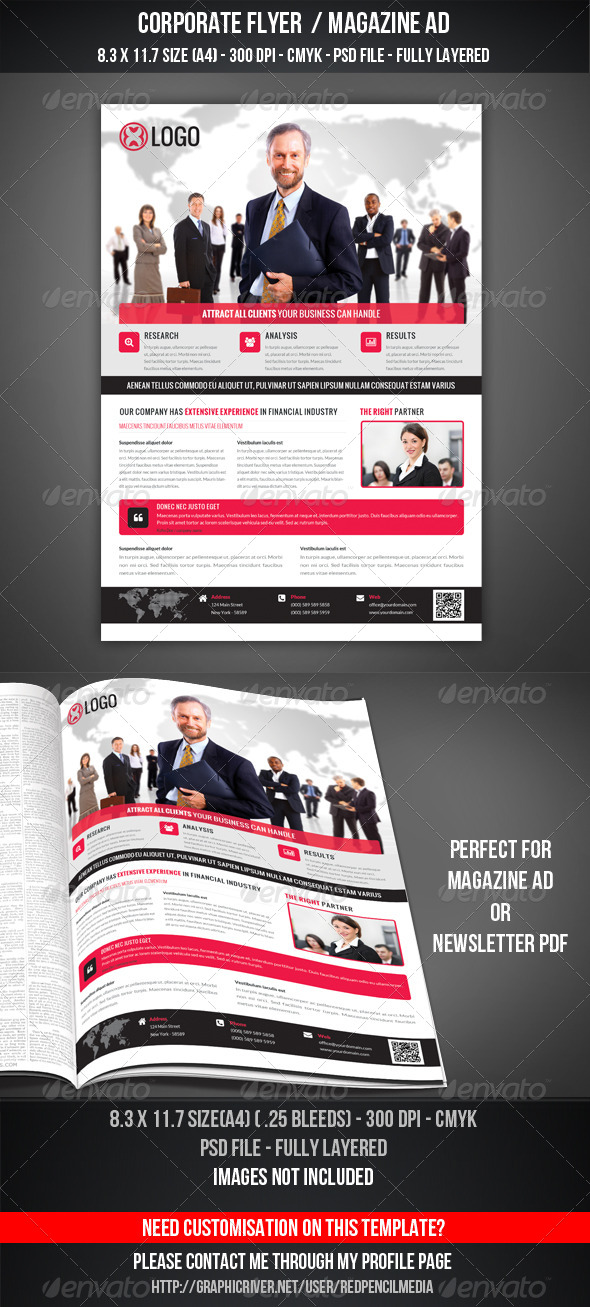 GraphicRiver Corporate Flyer Magazine AD 7412146