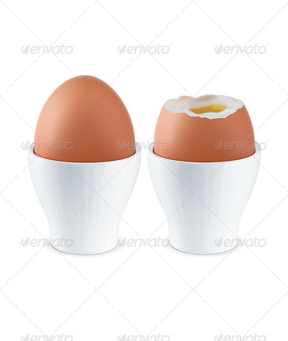 GraphicRiver Boiled Egg in Eggcup 7412185