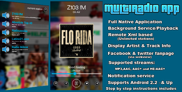 CodeCanyon MultiRadio Android App 7412354
