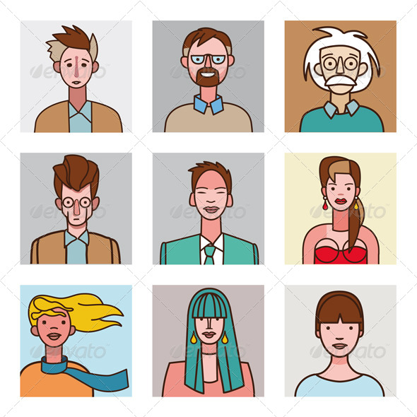 GraphicRiver Comic Avatars Set 7412466