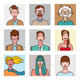 Comic Avatars Set - GraphicRiver Item for Sale