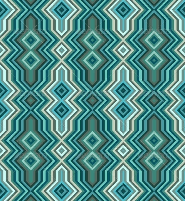 GraphicRiver Color Abstract Retro Zigzag Vector Background 7412608