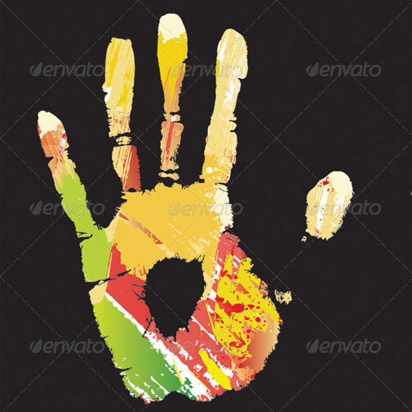 GraphicRiver Hand and Footprints 7412637