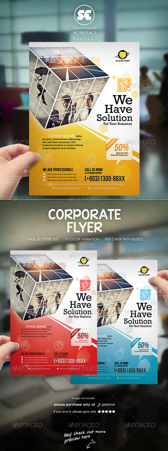 GraphicRiver Clean Corporate Flyer Magazine Ads 7412679