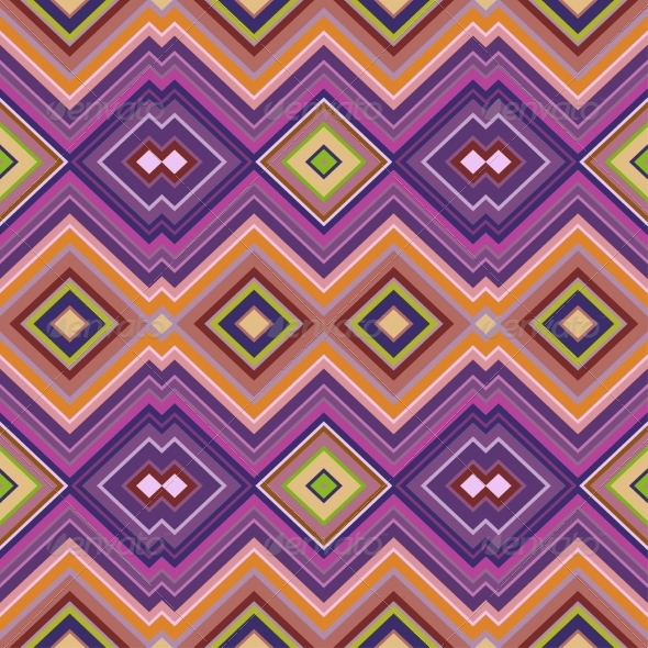 GraphicRiver Color Abstract Retro Zigzag Vector Background 7412699