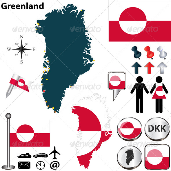 GraphicRiver Map of Greenland 7412701