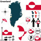 Map of Greenland - GraphicRiver Item for Sale