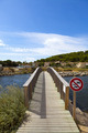 Footbridge over a pond in Gruissan - PhotoDune Item for Sale
