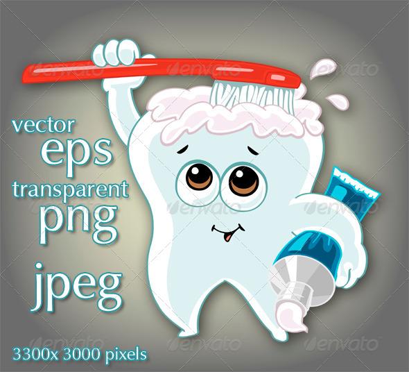 GraphicRiver Cartoon Tooth 7412886
