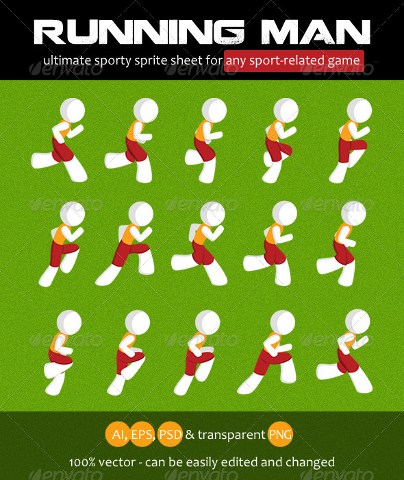 GraphicRiver Running Man Sprite Sheet 7401920