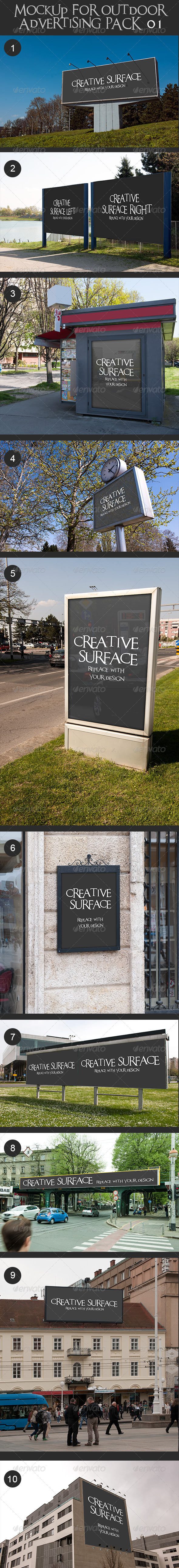 GraphicRiver 10 Mock Up s for Outdoor Advertising 7395610