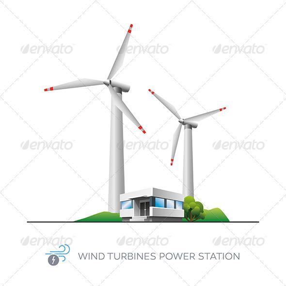 GraphicRiver Wind Turbine Power Station 7391776