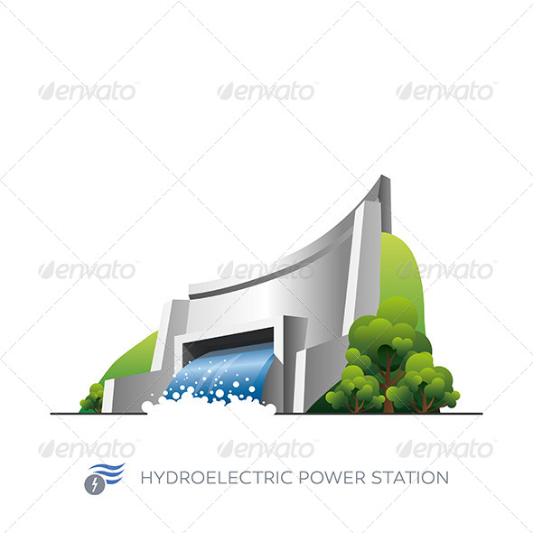 GraphicRiver Hydroelectric Power Station 7391780