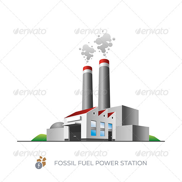 GraphicRiver Fossil Fuel Power Station 7391781