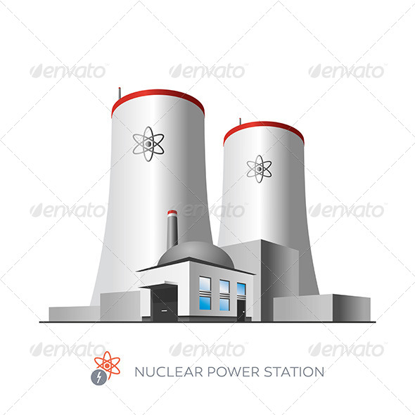 GraphicRiver Nuclear Power Plant 7391813