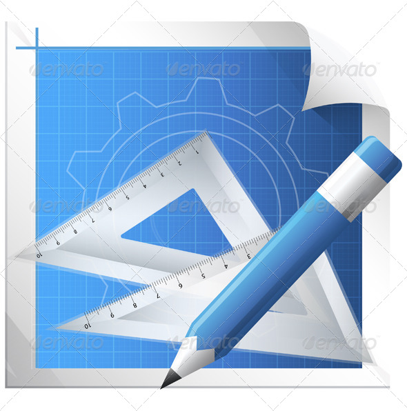 GraphicRiver Technical Drawing Illustration 7413025