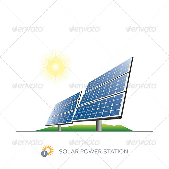 GraphicRiver Solar Power Station 7413194