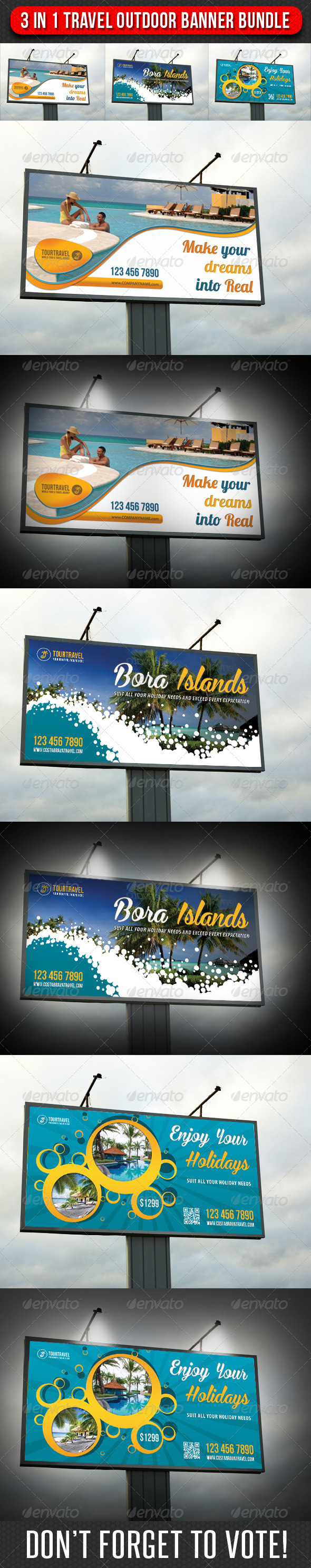 GraphicRiver 3 in 1 Travel Agency Outdoor Banner Bundle 01 7413199