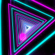 Colorful Neon Light Tunnel - VideoHive Item for Sale