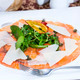carpaccio of salmon meat with arugula and cheese - PhotoDune Item for Sale