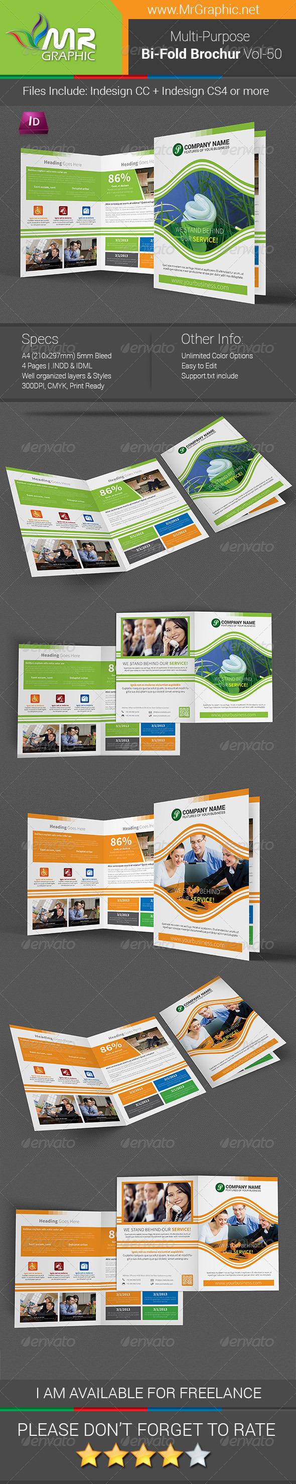 GraphicRiver Multi-purpose Bi-fold Brochure Template Vol-50 7413273