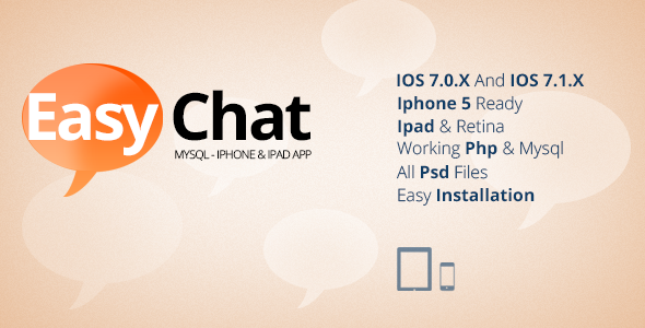 CodeCanyon EasyChat Mysql & Iphone Ipad App 7413275