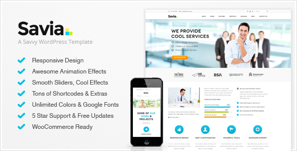 ThemeForest Savia Responsive Multi-Purpose Wordpress Theme 7299471