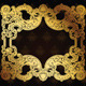 Gold Frame On Brown Ornate Background - GraphicRiver Item for Sale