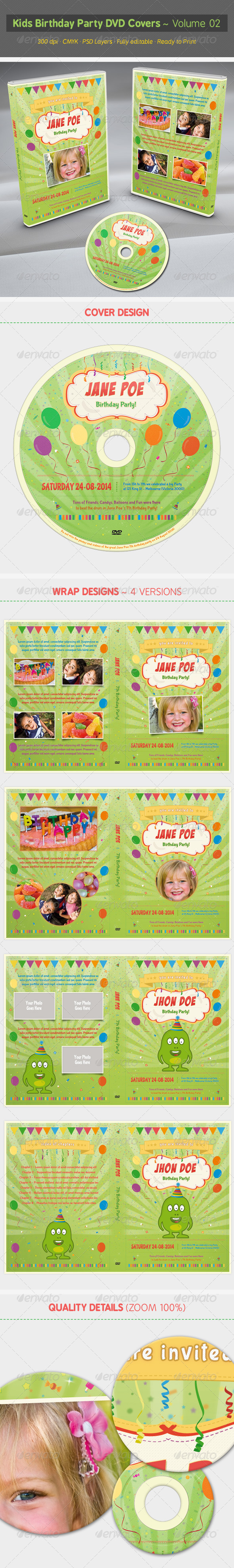 GraphicRiver Kids Birthday Party DVD Covers Volume 02 7413429